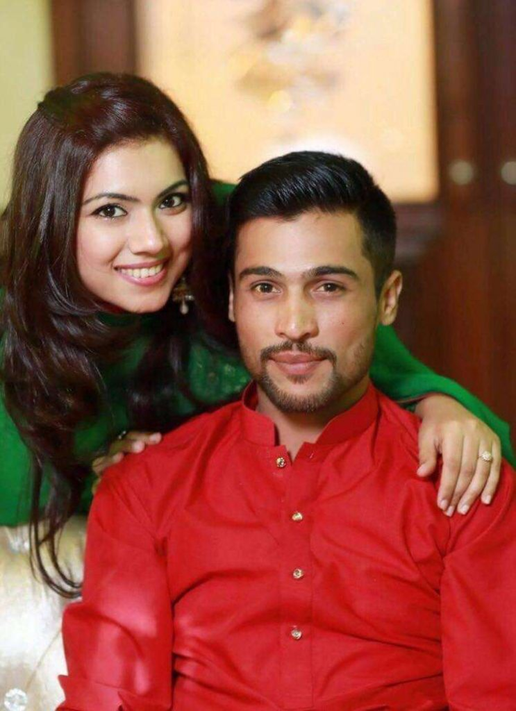 mohammad amir and his wife